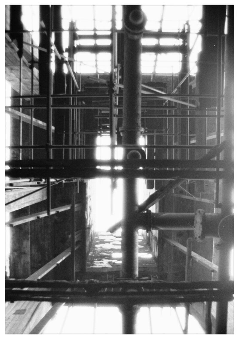 "Abbildung 1: ""Berlin, Abriß d.Gaswerks Dimitroffstraße II"" von Peter Dettmann"